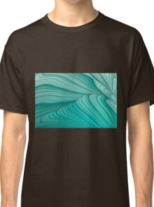 Folded Blue Green Abstract Classic T-Shirt