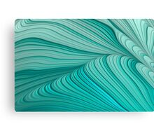 Folded Blue Green Abstract Canvas Print