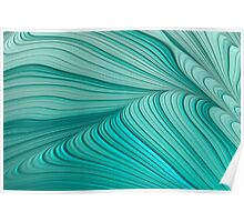 Folded Blue Green Abstract Poster