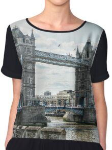 Tower Bridge from the Tower of London Fortress Chiffon Top