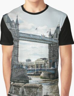 Tower Bridge from the Tower of London Fortress Graphic T-Shirt