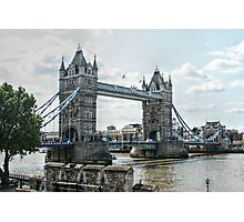 Tower Bridge from the Tower of London Fortress Photographic Print