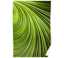 Green Flow Abstract Poster