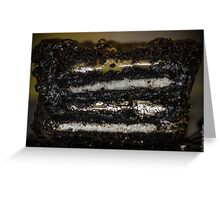 Oreo Cookie Peanut Butter Brownie Cupcake Greeting Card