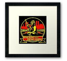 Snake Plissken (Escape from New York) Badge Colour Framed Print