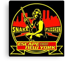 Snake Plissken (Escape from New York) Badge Colour Canvas Print