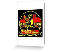 Snake Plissken (Escape from New York) Badge Colour Greeting Card