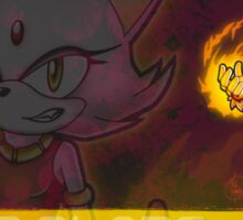 Blaze the Cat: Burning Blaze Sticker