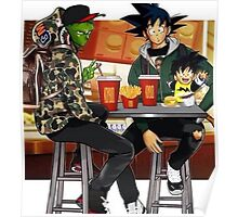 Goku, Piccolo and Gohan at McDonalds Poster