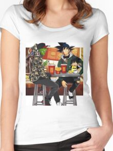 Goku, Piccolo and Gohan at McDonalds Women's Fitted Scoop T-Shirt