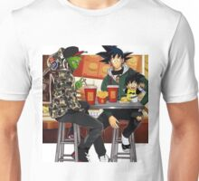 Goku, Piccolo and Gohan at McDonalds Unisex T-Shirt