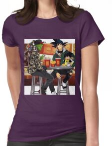 Goku, Piccolo and Gohan at McDonalds Womens Fitted T-Shirt