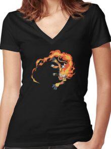 Infernape Women's Fitted V-Neck T-Shirt