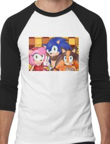 Sonic Boom: Sonic, Amy Rose and Sticks Men's Baseball ¾ T-Shirt