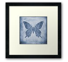 Butterfly Textures Cyanotype Framed Print