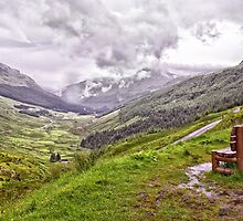 A bench with a view by Geoff Carpenter