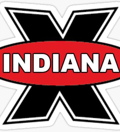 Indiana University Pizza X Sticker