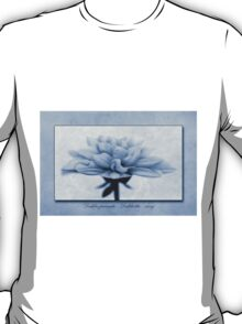 Dahlia pinnata Cyanotype T-Shirt