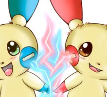 Pokemon: Plusle and Minun Attack Together! Sticker