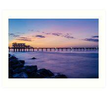 Galveston fishing pier at sunrise Art Print