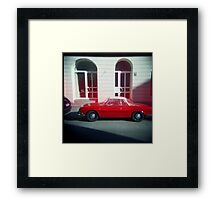 Red Leaking VW - Munich, Germany Framed Print