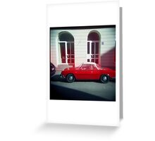 Red Leaking VW - Munich, Germany Greeting Card