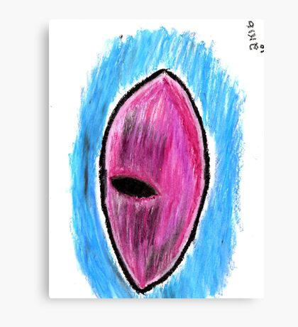 Oil Pastel Eye Drawing 2 Canvas Print