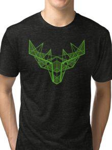 Deer Head - Green Tri-blend T-Shirt