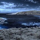 Lowlands beach on a quiet day, IR Pan by BigAndRed