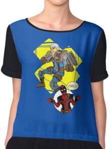 CABLE AND DEADPOOL Chiffon Top