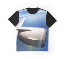 CFM-56 Jet Engine on a 737 Wing Graphic T-Shirt