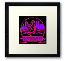 Snake Plissken (Escape from New York) Badge Colour 2 Framed Print