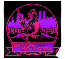 Snake Plissken (Escape from New York) Badge Colour 2 Poster