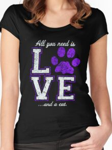 All you need is love and a cat  T-shirt  Women's Fitted Scoop T-Shirt