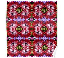 Red Anemone Pattern Poster