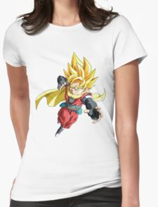 gohan Womens Fitted T-Shirt