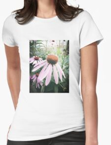 Petal pink  Womens Fitted T-Shirt