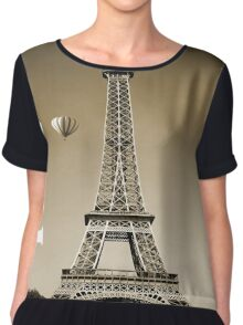 Paris France Eiffel Tower  Chiffon Top