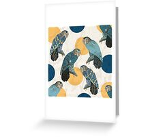 Owl Polka Greeting Card