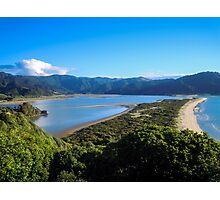 Panoramic view of Wainui Bay Photographic Print