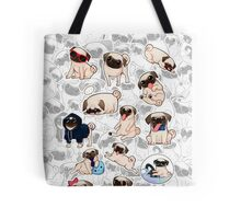 a lot of pugs Tote Bag