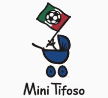 Mini Tifoso Italia / Baby Football Fan Italy (Black) Kids Tee