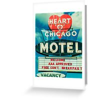 Heart Chicago Motel Greeting Card