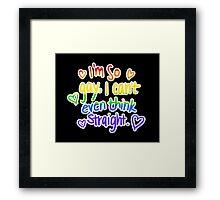 So Gay Framed Print