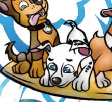Surfing pups Sticker