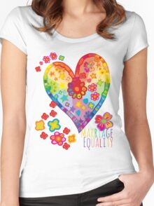 Marriage Equality - All You Need is Love Women's Fitted Scoop T-Shirt