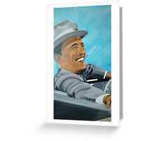 Hand painted Obama Greeting Card