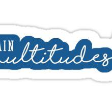 The Ensemblist - Multidudes Sticker