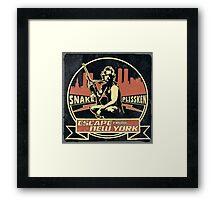 Snake Plissken (Escape from New York) Badge Vintage Framed Print