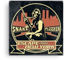 Snake Plissken (Escape from New York) Badge Vintage Canvas Print